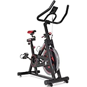 TITAN FITNESS Pro Indoor Exercise Bike with Flywheel and LCD for Cycle Cardio Fitness