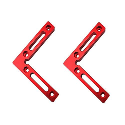 Saibangzi Winkel-Klemme, 90 Grad, 11,9 x 11,9 cm, 2 Stück, Aluminiumlegierung, Eckspannwinkel, Winkelklemmen für Holzarbeiten, Zimmermannswerkzeug