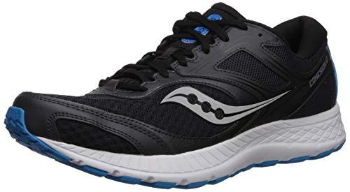 Saucony Cohesion 12, Zapatillas de Running para Hombre, Negro Negro 10, 41 EU