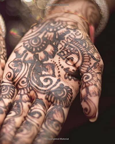 Henna: Design Sketch Book (8X10 Dot Notebook)
