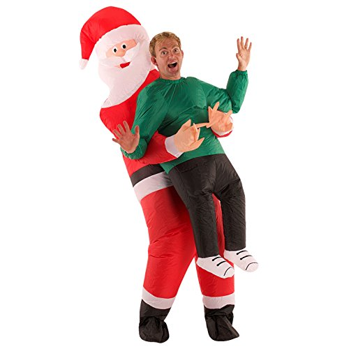 MorphCostumes Christmas Santa Claus Inflatable Costume - Great Illusion Fancy Dress Outfit One size fits most