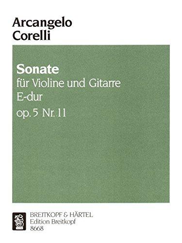 Sonate E-dur op. 5/11 für Violine und Bc - Bearbeitung für Violine und Gitarre (EB 8668)