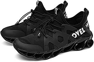 2019 New Men's Shoes Fire Dragon Blade Warrior Tide Shoes Male Students Fly Woven Running Casual Sports Shoes (Color : Black White, Size : 43)