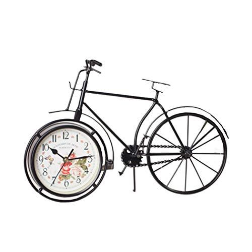 S.W.H Modernes Land Retro Eisen Fahrrad Figur Uhr Fahrrad Miniatur Familie Kind Student Dekoration Spielzeug Geschenk