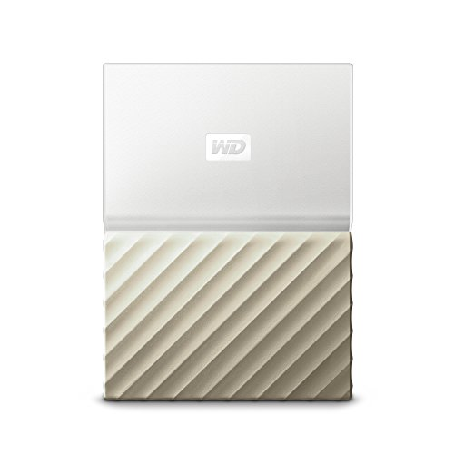 WD My Passport Ultra 3TB - Disco Duro portátil y Software de Copia de Seguridad automática para PC, Xbox One y Playstation 4, Blanco/Oro