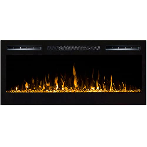 """Regal Flame Lexington 35"""" Crystal Built in Wall Ventless Heater Recessed Wall Mounted Electric Fireplace Better than Wood Fireplaces, Gas Logs, Inserts, Log Sets, Gas, Space Heaters, Propane"""
