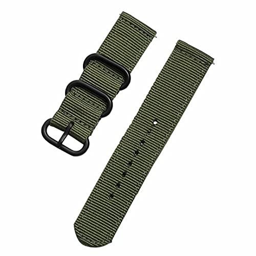 Correa de reloj de nailon balístico militar con hebilla pesada de 18 mm, 20 mm, 22 mm, correas de reloj de nailon premium para hombres y mujeres, 3 pares