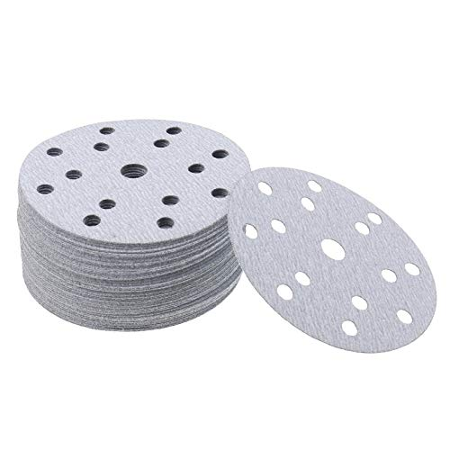 50Pcs 6Inch Sanding Paper, Wet and Dry 180 Grit Disc Kit Hook and Loop for Metal Wood Polishing (150mm)