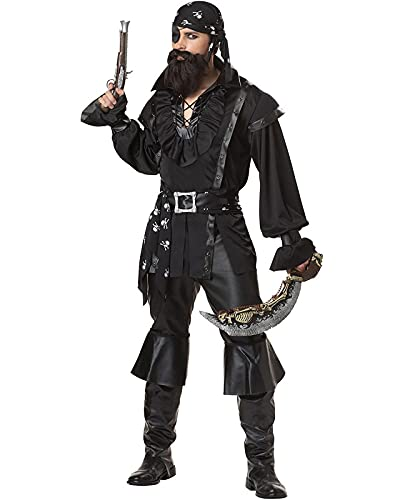 Disfraces de pirata de Halloween para hombres y mujeres, cosplay de los hombres y los trajes de escenario pirata sexy, B, XXL