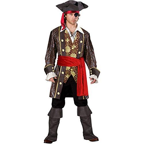 shoperama 10-teiliges DELUXE Herrenkostüm - Pirat 5 - Gr. M/L Fluch der Karibik Kostüm