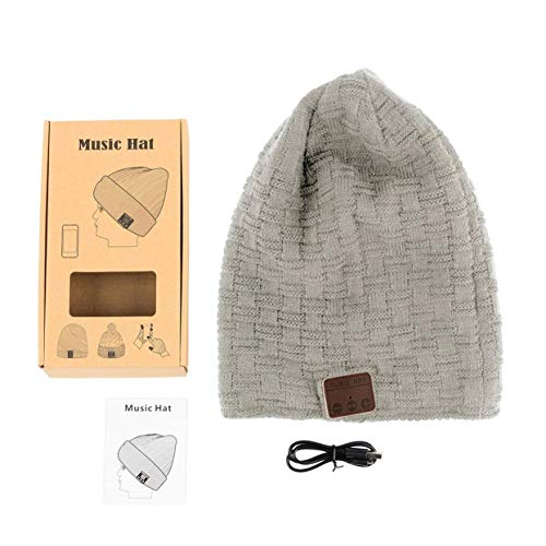 Preisvergleich Produktbild Tree-on-Life Drahtlose 4, 2 Smart Cap warme Winter Beanie Hut Multifunktions-Kopfhörer Headset Lautsprecher Mic verdickt Velvet Hat