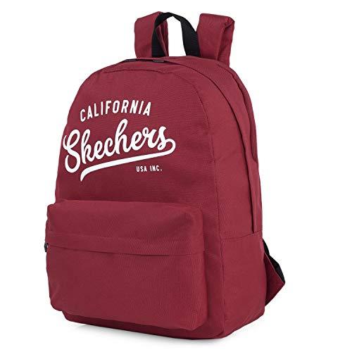 SKECHERS - Mochila Escolar Adolescente con Bolsillo Interior iPad Tablet Ideal para Instituto Práctica Cómoda y versátil S904, Color Rojo Jester