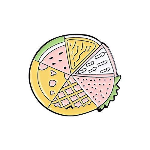 HSQSC Broschen Anstecknadeln Planet Emaille Custom Et Weihnachtsbaum Globus Brosche Shirt Revers Tasche Fun Pizza Badge Cartoon Essen