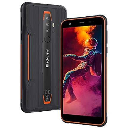 Móvil Resistente, Blackview BV6300 Pro Android 10 Smartphone 4G, Helio P70 Octa-Core 6GB+128GB, 5.7'' 11,6 mm Ultrafino, 16MP+13MP, Móvil Antigolpes IP68/IP69, Dual SIM/GPS/NFC/Face ID