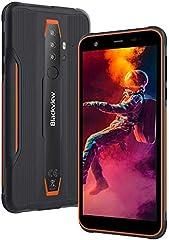Móvil Resistente, Blackview BV6300 Pro Android 10 Smartphone 4G, Helio P70 Octa-Core 6GB+128GB, 5.7'' 11,6 mm Ultrafino, 16MP+13MP, Móvil Antigolpes IP68/IP69, Dual SIM/GPS/NFC/Face ID