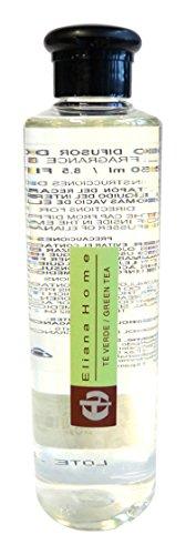 Eliana Home Liquido para difusor de 250 ml te Verde, Aceites Esenciales aromatizados, 4.50x4.50x18.70 cm