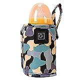 Csheng Reise-Flaschenwärmer USB-Babyflaschenwärmer Jackenheizung Warme Babyflaschenheizung Thermostat Outdoor Tragbarer Babyflaschenwärmer Mam Flaschenwärmer Tasche Black