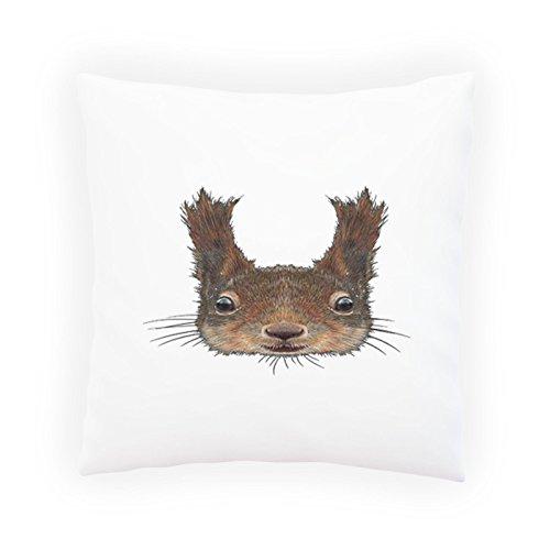 INNOGLEN Netter Eichhörnchen-Gesichts-Smile Dekoratives Kissen, Kissenbezug mit Einlage/Füllung oder ohne, 45x45cm z635p