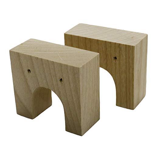 のれん受け(間口内側用) 木製 2ヶ1組 軽くてコンパクトなのれん掛け