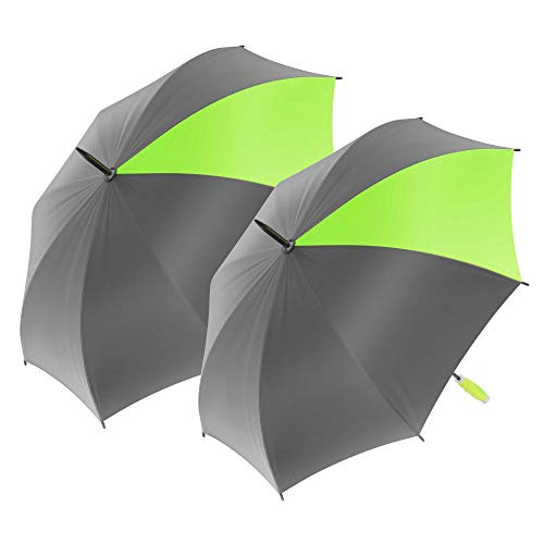 Nautica XL Golf Umbrella - Portable, Lightweight & Folding - Two Person Coverage in Lime/Grey 2-Pack