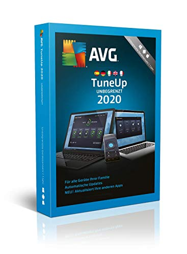 AVG TuneUp 2020 | Unbegrenzte Geräteanzahl | 1 Jahr | 2020 | Download [Lizenz]|Download|Download|