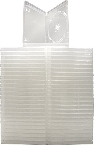 Square Deal Recordings & Supplies - (50) Empty Standard Clear 14MM Replacement Boxes - Compatible with Playstation 3 (PS3) - #VGBR14PS3CL