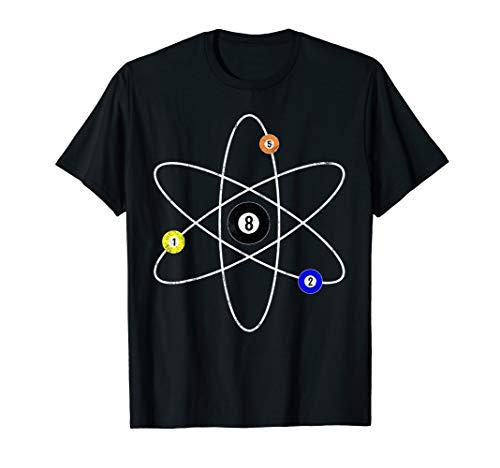 Billard T-Shirt - Atom Symbol Pool Snooker Shirt Geschenk