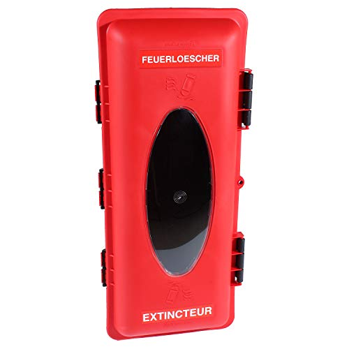Feuerlöscherkasten | für 6kg Feuerlöscher | mit großem Fenster | KFZ, LKW, Wandmontage | Feuerlöscherbox, Feuerlöscherschrank, Schutzschrank, Schutzbox
