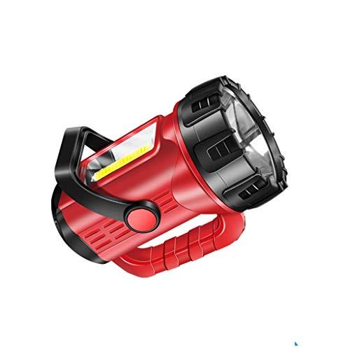 Extérieur Searchlight, Maison d'extérieur Lampe de poche Lampe de charge Super Bright longue distance à haute puissance portable Searchlight avec une longue autonomie de la batterie avec chargeur Fonc