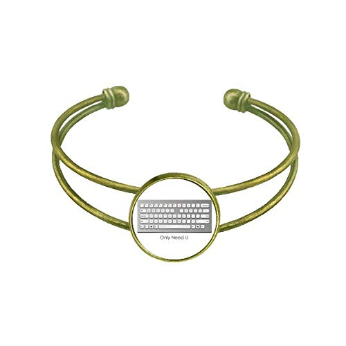 DIYthinker Programmer Keyboard Only Need U Bracelet Bangle Retro Open Cuff Jewelry