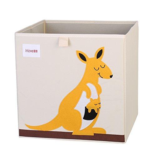 Caja Organizador Juguete plegable lona cubo Almacenamiento Dibujos Animados para Niños por ELLEMOI (Canguro)