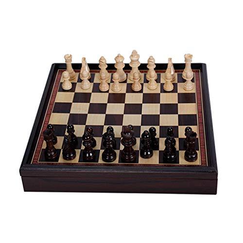 CAI-HAI Der Holzschreibtisch Bietet Platz Für Einen Kleinen Schachtisch, 31x31x5,3 cm Großes Schachspiel Für Erwachsene Und Unterhaltungsspielzeug Für Kinder