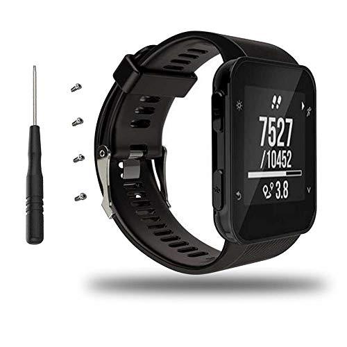 Bemodst Armband für Garmin Forerunner 35 Watch, Silikon Handgelenk Uhrenarmband Fitness Sport Ersatz Uhrband Wechselarmbänder für Garmin Forerunner 35 Smartwatch (Schwarz)