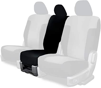 CarsCover Custom Fit 2014-2019 Toyota Tundra Pickup Truck Neoprene Car Rear 60//40 Seat Covers with Armrest Gray /& Black Sides