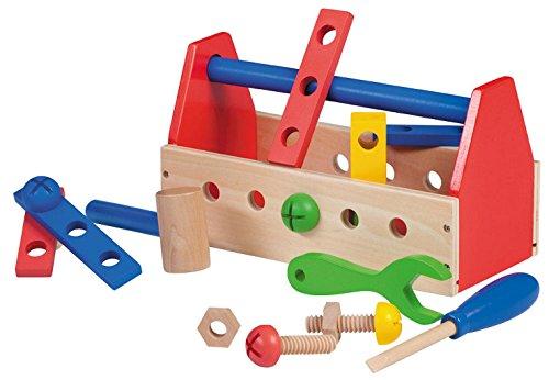 Jouéco - Bunter Kinder Werkzeugkasten 18 teilig