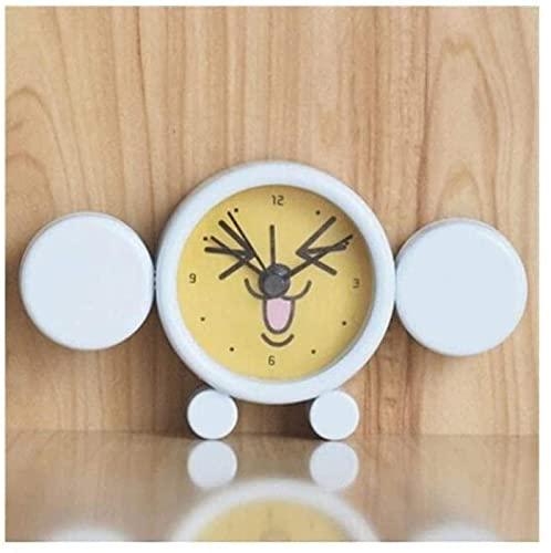Reloj de Mesa Reloj Despertador pequeño y silencioso, Reloj de Cuarzo de Estilo Retro clásico, Despertador de Viaje de mesita de Noche, Armario de Escritorio