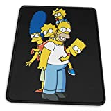 The Simpsons Comfortable and Wearable Rubber Computer Mouse Pad Precision Locking Non-Slip for Laptop Office Home Game
