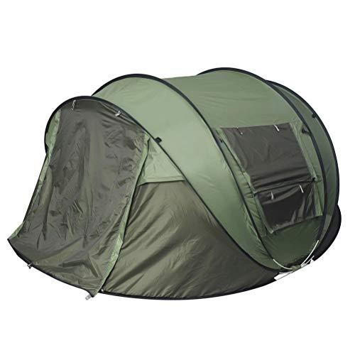 Goushi Carpa De Camping Automática Carpa De Fácil Instalación Carpa Familiar Portátil Senderismo Al Aire Libre Carpa De Playa Refugio De Protección Solar 5-8 Personas Impermeable