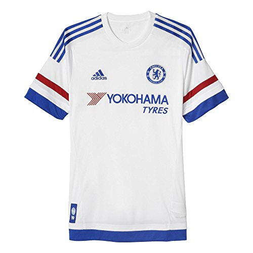 adidas Chelsea FC Away Jersey-Blanco - AH5108, S, Blanco/Chelsea Azul/Rojo