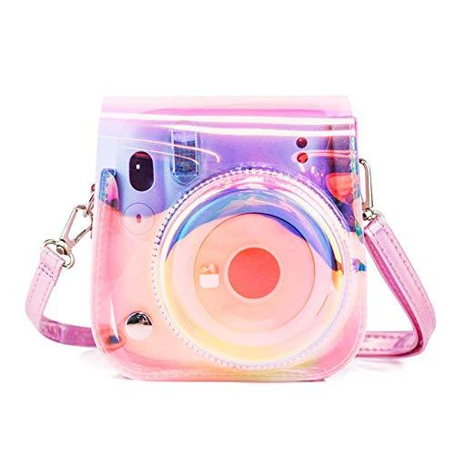 Slec tech キャリングバッグ 保護ケース Fujifilm Instax Mini 11 インスタントカメラ専用 カメラ透明ケース カラフル おしゃれ 取り外し可能 調節可能のストラップ
