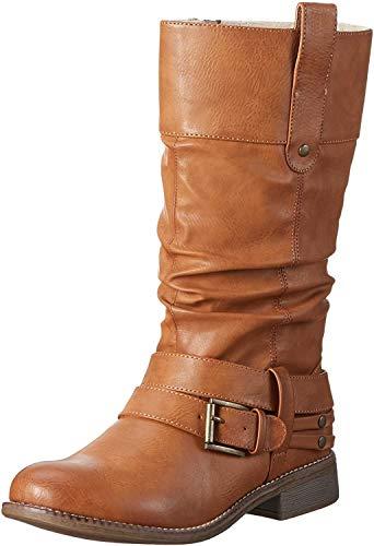 Rieker 95678 - Botas altas para mujer, color Marrón (