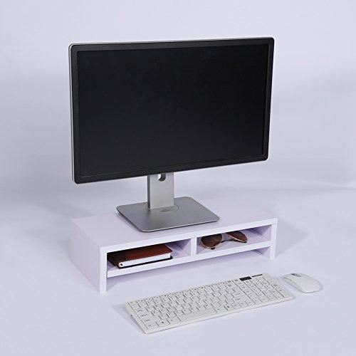 Estante de Madera para computadora portátil, Material Duradero Que Mantiene el Escritorio ordenado, Soporte para Monitor con Organizador de Almacenamiento para computadora, teléfono