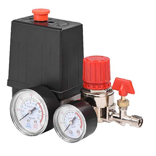 Odoukey 7,25 bis 125 Psi Kleinen Luftkompressor Druckschaltersteuerung 15a 240v / ac Einstellbare Luftregelventil Kompressor Vier Löcher