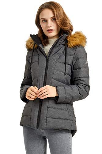Orolay Chaqueta de Plumón al Aire Libre para Mujer con Capucha Abrigo Corto Acolchado de Invierno