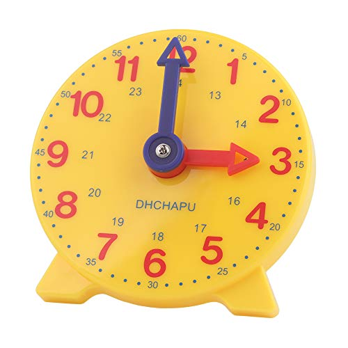 Student Learning Clock Time Teacher Gear Clock 4 Inch 12/24 Hour