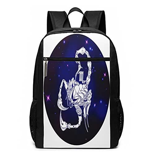 Mochila Escolares Astrología Escorpio Horóscopo del Zodiaco, Mochila Tipo Casual para Niñas Niños Hombre Mujer Mochila para Ordenador Portátil Viaje
