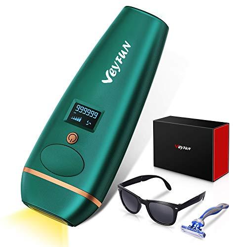 VEYFUN IPL Haarentfernungsgerät für Frauen und Männer Dauerhaft schmerzloses laser-Haarentfernungsgerät für Gesicht, Achsel, Bikinibereich, Ganzkörper, 5 Ebenen, 2 Modi, 999999 Blitze