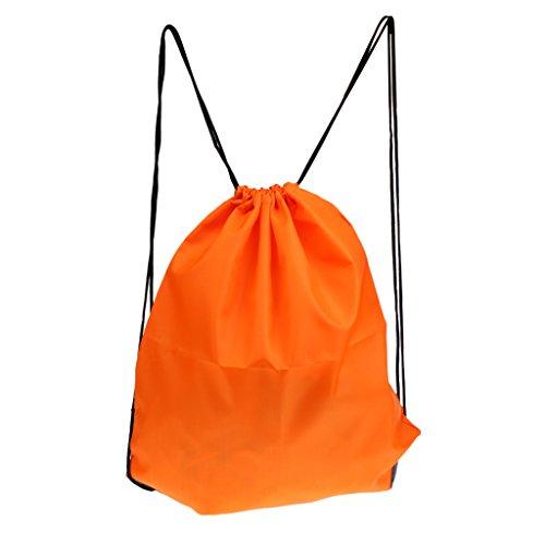 MagiDeal Sac à Dos Étanche Cordon Réglable Sac De Rangement Pour Voyage Camping - Orange, 35 x 40 cm