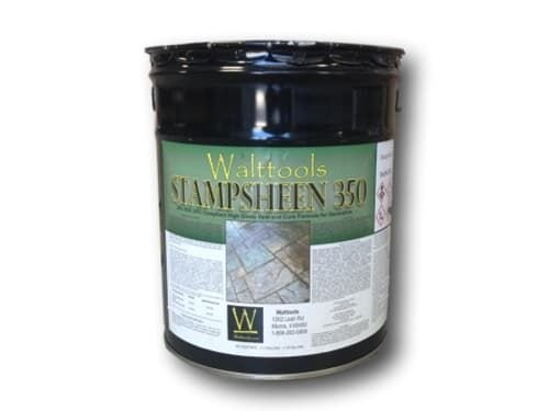 High-Gloss Concrete Sealer (5 Gal) Stampsheen 350 | Ultimate Low VOC for Concrete and pavers
