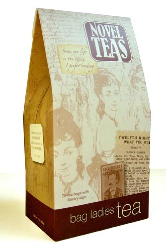 Novel Teas contains 25 teabags individually tagged with literary quotes...